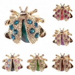 Crystal ladybird - elegant brooch
