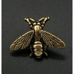 Vintage bronze brooch - bee / airplane