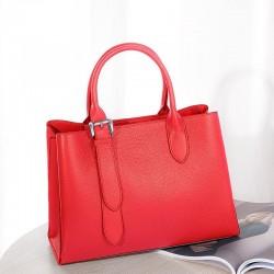 Luxurious women's shoulder bag - genuine leather