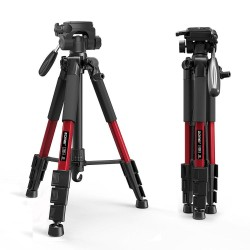 Z666 - professional aluminum camera tripod - portable - with Pan head - for Canon DSLR camera