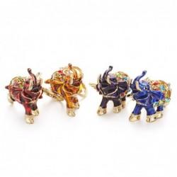 Colorful crystal elephant - keychain
