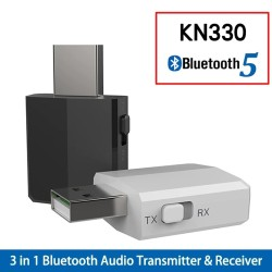 KN330 - USB - Bluetooth - transmitter - audio receiver - 3.5 mm AUX jack - 3 in 1 adapter