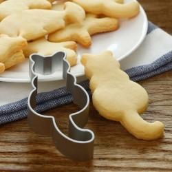 Cookie cutter - aluminum mold - cat / fox / heart shaped