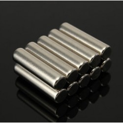 N42 Neodymium Magnet Strong Cylinder 5 * 20mm 10pcs