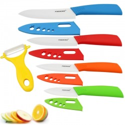 """Ceramic knife set - 3"""" 4"""" 5"""" 6"""" inch with peeler & covers"""