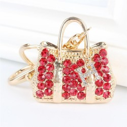 Red Crystal Handbag keychain