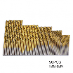 Titanium coated twist drill bits 50 pieces