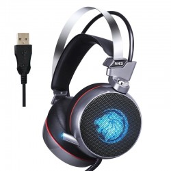 ZOP N43 gaming headset headphones with mic & LED light