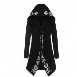 Gothic & Punk style - long sweatshirt - loose hoodie - cotton
