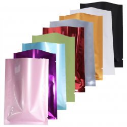 Aluminum colorful bags - recyclable - hot sealing - 100 pcs