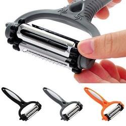 Multifunctional 360 degree rotary kitchen tool - peeler for vegetables & fruits - grater - slicer
