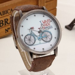 """ I want to ride my bicycle "" Quartz watch"