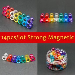 Magnetic neodymium thumb tacks pins - fridge magnets 14 pieces